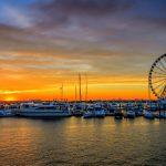 wheel-at-sunset