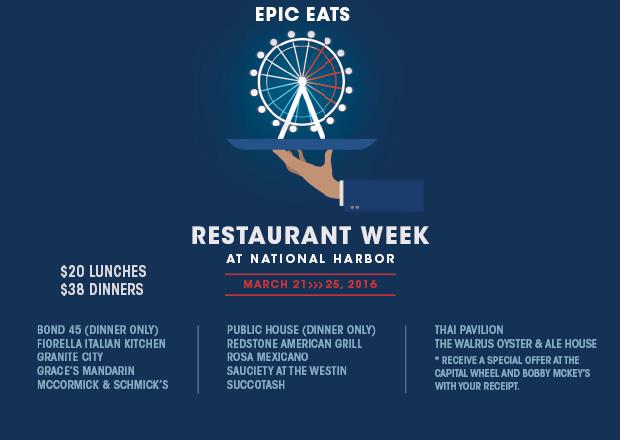 Restaurant Week National Harbor National Harbor